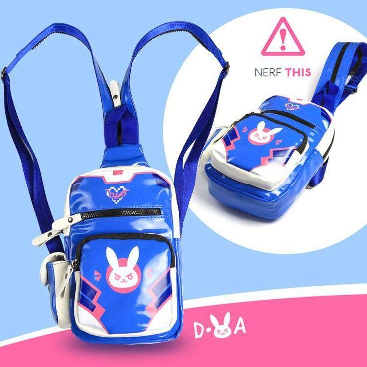 Overwatch D.VA DVA Bunny Shoulder Backpack SD01453