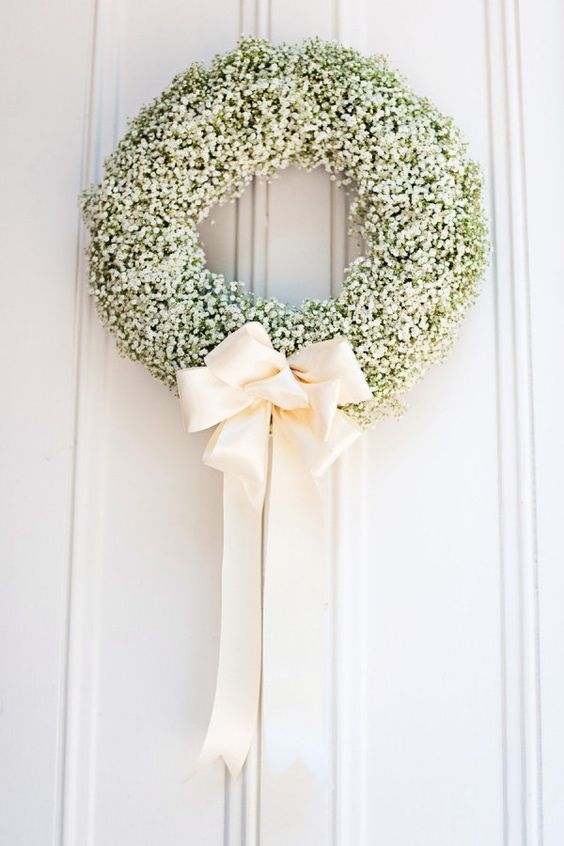 Wedding Gypsophilia, babys breath, delightful finds & me, fashion blog, wedding ideas