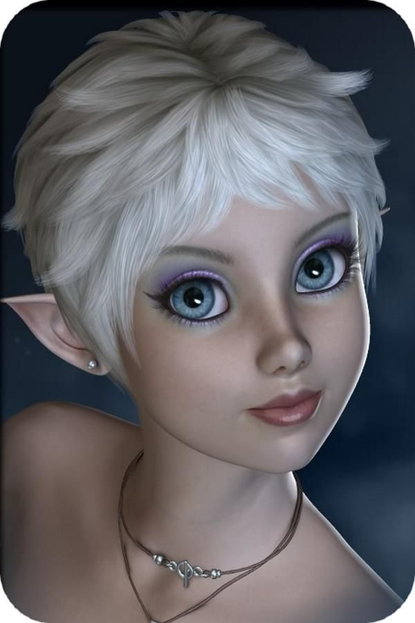 Silver-haired, blue-eyed fairy. ☆