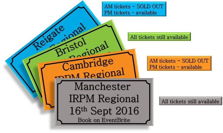 IRPM Regional Ticket Update! #IrpmMan16 #IrpmCam16 #IrpmBri16 #IrpmRei16 #irpm #update - http://buff.ly/2biaY2c