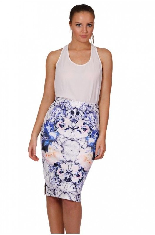 Capulet Pencil Skirt- Stunning printed! Elastic Waist! Shop Now Only at A$37.95.