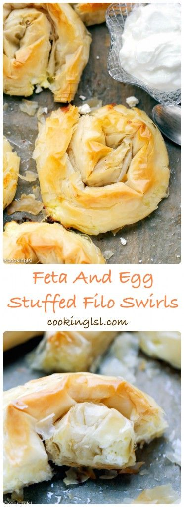 Phyllo {Filo} Swirls With Eggs And Feta More