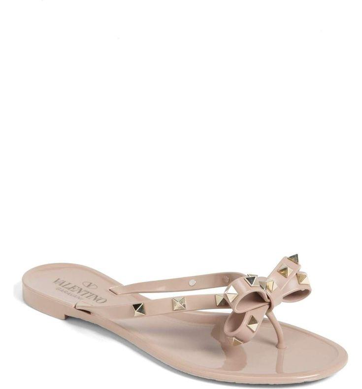 'ROCKSTUD' FLIP FLOP - Valentino Bridal Shoes: Vows in Rockstud Style https://www.loveandlavender.com/2018/01/valentino-bridal-shoes/