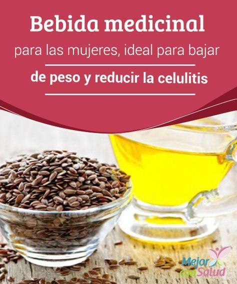 Bebida medicinal para las #mujeres, ideal para bajar de peso y reducir la #celulitis La linaza es rica en fibra, por lo que nos ayuda a mantenernos satisfechos, mejora la #digestión y elimina los desechos del #cuerpo. #PerderPeso