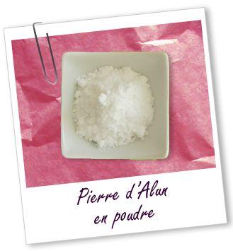 Actif cosmétique Pierre Alun poudre Aroma-Zone
