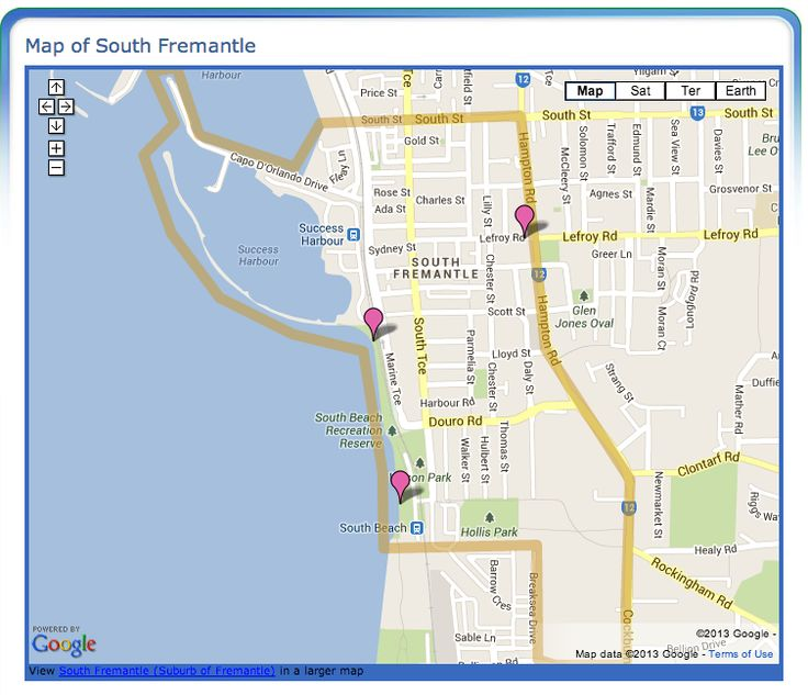 South Fremantle Boundary Map - Map of South Fremantle, Western Australia