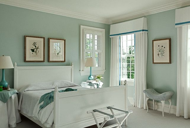 "Paint Color is ""Palladian Blue HC-144 by Benjamin Moore"".  Love this color for our master bedroom."