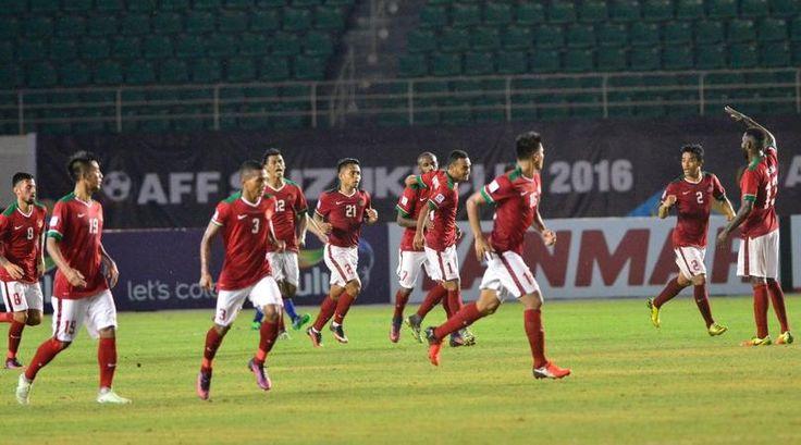 Indoensia menang melawan Thailand 2-1 pada Leg 1 Piala AFF Suzuki 2016 di Studion Pakansari.