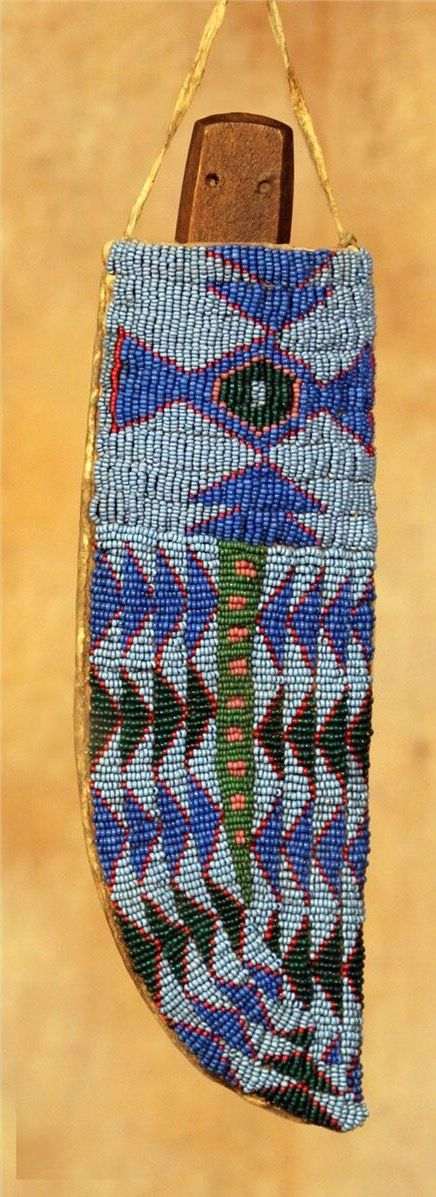 Нож и ножны, Сиу. Б. Длина 9 дюймов. Период: 19 век.  Auction In Santa Fe. Август 2013 года.