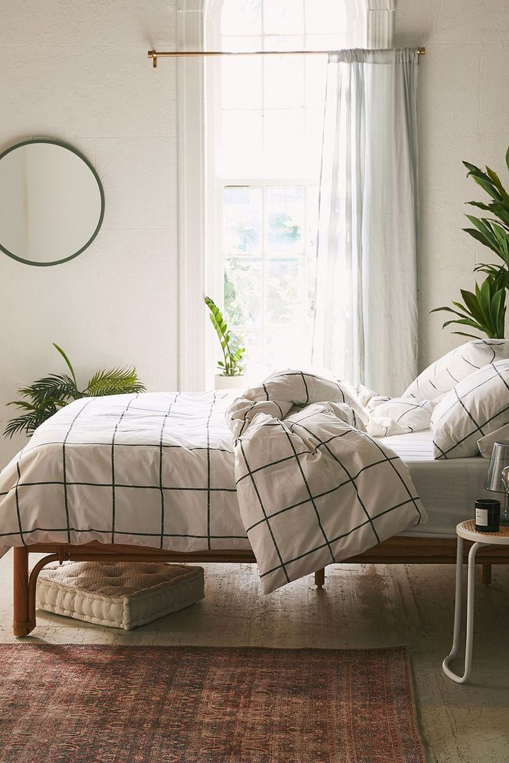 Distressed Checked Duvet Cover Set
