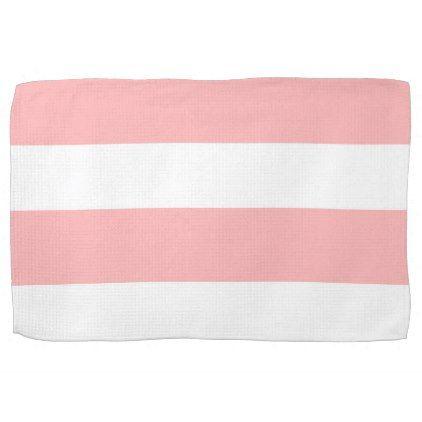 Strips - pink. towel - patterns pattern special unique design gift idea diy