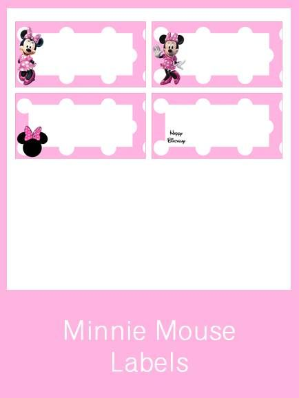 Minnie Mouse Labels - FREE PDF Download