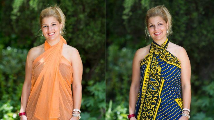 Como hacer vestidos con un pareo para el verano o la playa o la piscina trucos pinterest - Como cambiar de look en casa ...