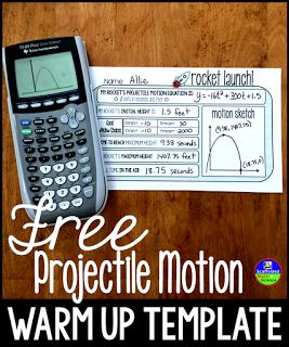 Free projectile motion warm up template