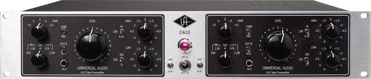 Universal Audio 2-610 Dual Channel Tube Preamplifier   All-Tube Dual Channel Preamplifier — Based on the Legendary UA 610 Modular Console.
