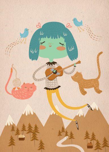 "illustrated by ""isabel reyes feeney"" seen on vlinspiratie.blogspot.com"