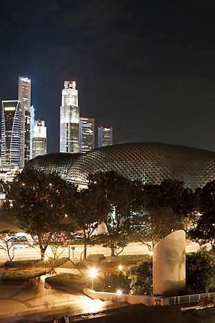 The Esplanade Theatres on the Bay, a waterfront arts centre opposite Mandarin Oriental, Singapore