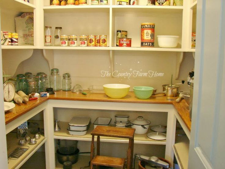 84 best images about proper pantries on pinterest for Country kitchen pantry ideas