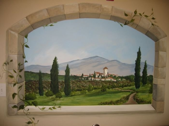 Custom Tuscan Mural By Lakes Professional Painting