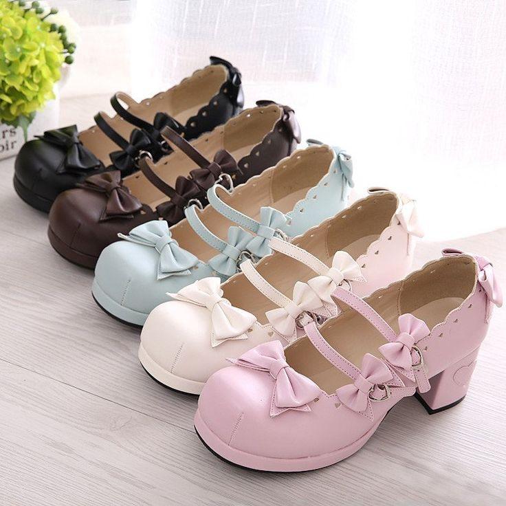 "Sweet bowknot lolita heels   Coupon code ""cutekawaii"" for 10% off"