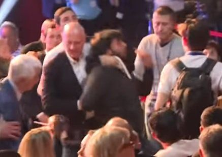 LEFTISTS Riot at Marine Le Pen Ajaccio Rally - Brawl with Supporters (VIDEO)