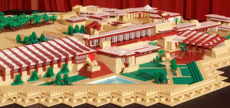Architectural LEGO® artist Adam Reed Tucker has summoned a team of kids to help him rebuild Taliesin Westas the largest Frank Lloyd WrightLEGO® structure in history. Description from icmimarlikdergisi.com. I searched for this on bing.com/images