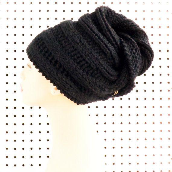 Black Crochet Hat Womens Hat Crochet Turban Hat African Hat Black Hat Womens Turban Hat African Headwrap GELE Turban Hat by strawberrycouture by #strawberrycouture on #Etsy