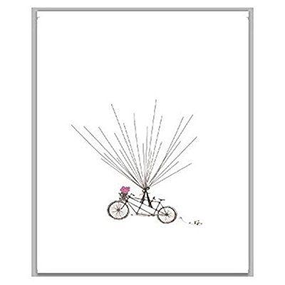 EQLEF® 30 * 40cm de la huella digital del árbol de firma de la boda libro de visitas de pintura de la lona fuentes de la boda de la boda del partido de la decoración