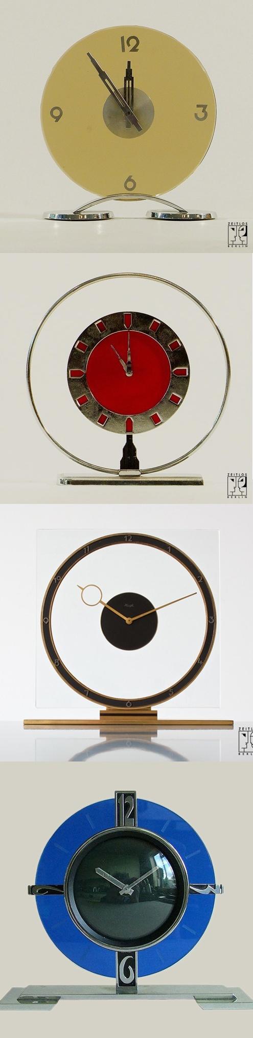 Art Deco clocks, 1930s