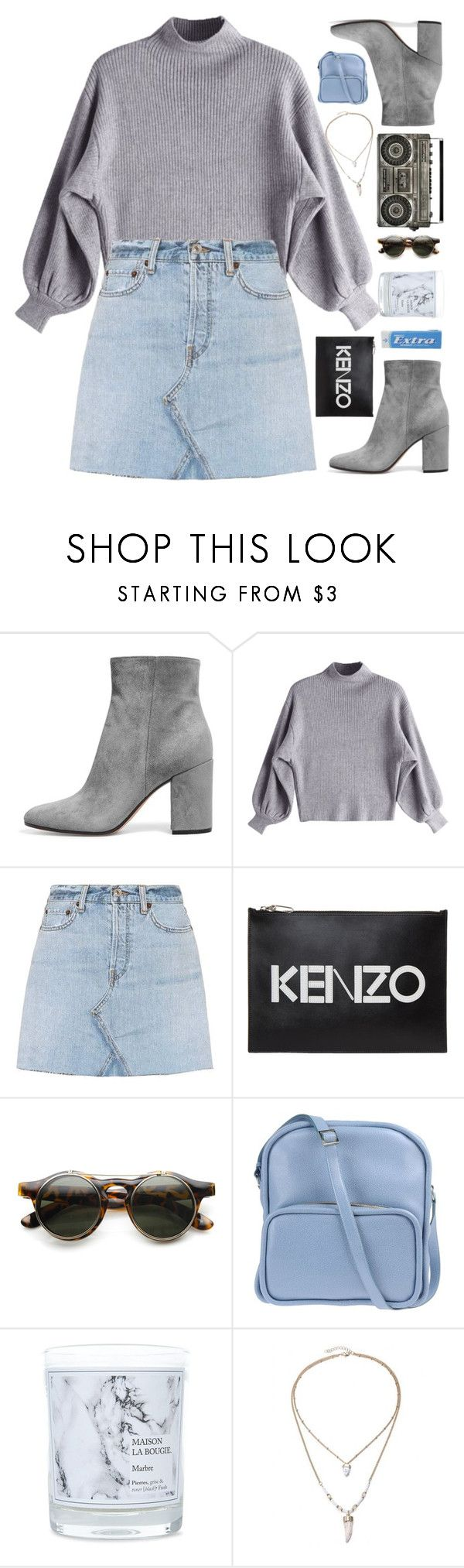 """•love me baby like you love the sea•"" by unicornonthecobb ❤ liked on Polyvore featuring RE/DONE, Kenzo, ZeroUV, Jil Sander Navy, Maison La Bougie and unicornonthecobb"