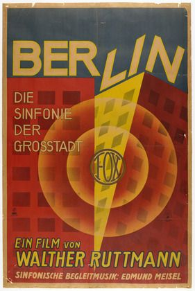 MoMA | The Collection | Unknown Artist. Poster for Berlin, Die Sinfonie der Grosstadt (Berlin, Symphony of the Metropolis). 1927