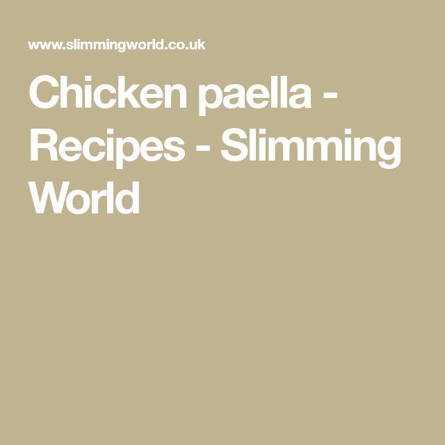 Chicken paella - Recipes - Slimming World