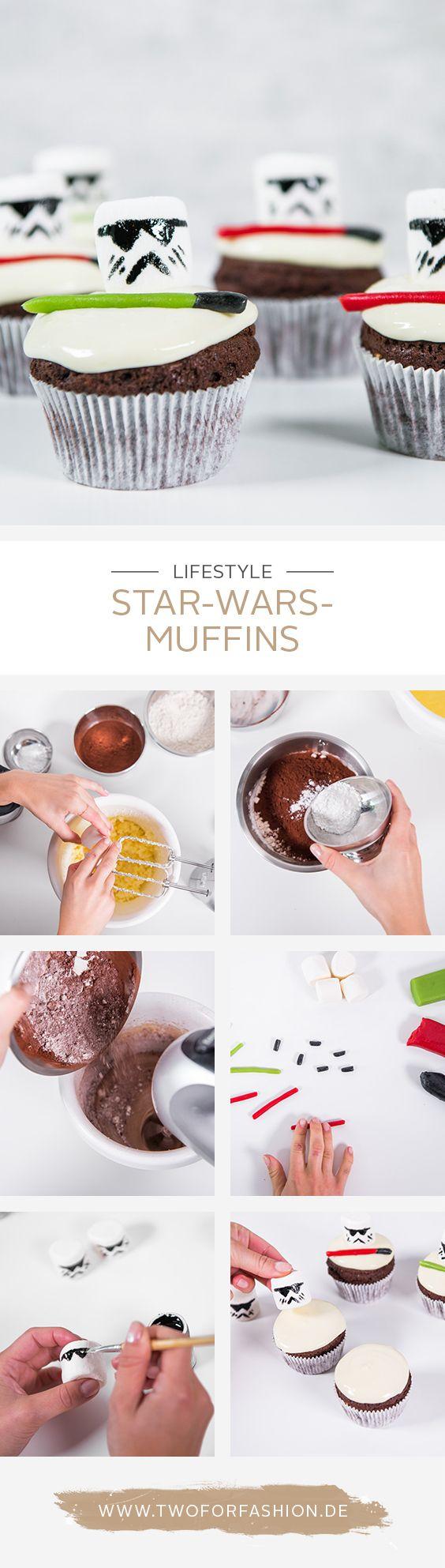 #starwars #starwarskuchen #muffinrezept #marshmallow #stormtrooper  Mit Vorfreude erwarten wir den neuen Star Wars Film am 14.12. Um uns und euch darauf schon mal einzustimmen, haben wir euch diese Anleitung für kreative und unglaublich leckere Star Wars Kuchen und Muffins erstellt. Nachbacken lohnt sich!