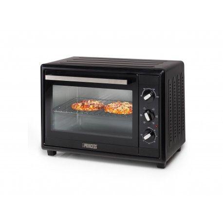 Ce four compact d'une capacité de 35 L est équipé d'une porte à double vitrage. 3 modes de cuisson dont four traditionnel, gril et chaleur tournante. Sa minu...