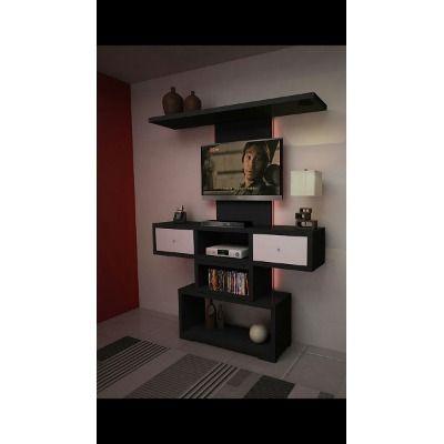 Rack colgante panel lcd cajones modular amoblamientos fl a for Amoblamientos para comedor