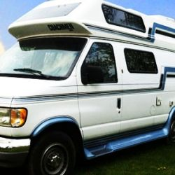 Last summer we bought a 1994 Ford Econoline conversion van camper. We had outgrown our charming but cramped and delicate vintage travel trailer,...