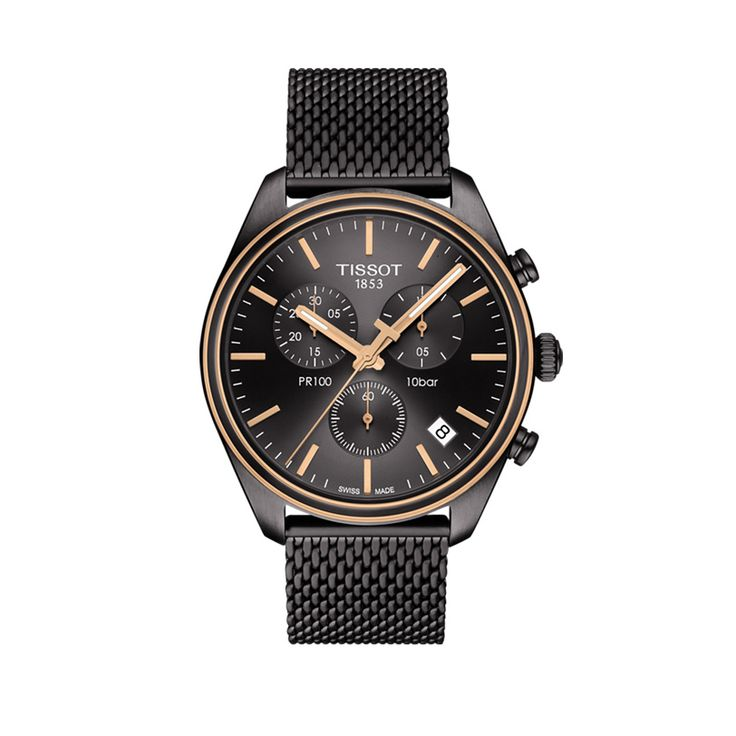 T101.417.23.061.00 Ανδρικό quartz ρολόι TISSOT μοντέλο PR 100 χρονογράφος, με ημερομηνία και μαύρο καντράν | Ρολόγια TISSOT στο Χαλάνδρι ΤΣΑΛΔΑΡΗΣ #tissot #pr100 #χρονογραφος #ημερομηνια #μπρασελε