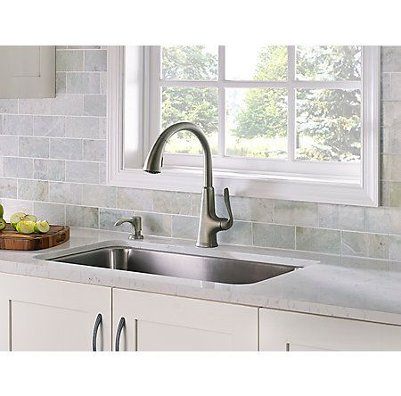 product slate pdsl pasadena handle faucet productdetailmain rct down pull faucets f kitchen