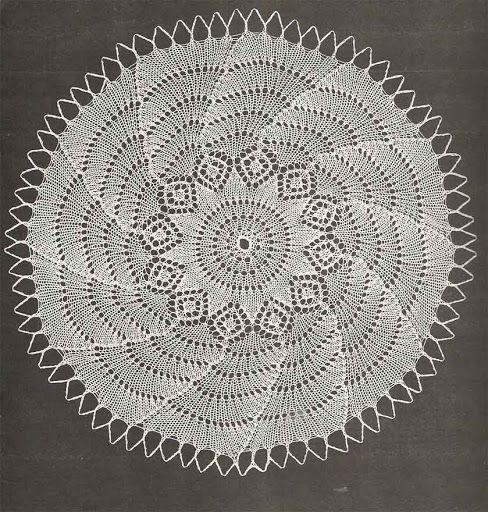Kira knitting: Scheme knitted tablecloths 35