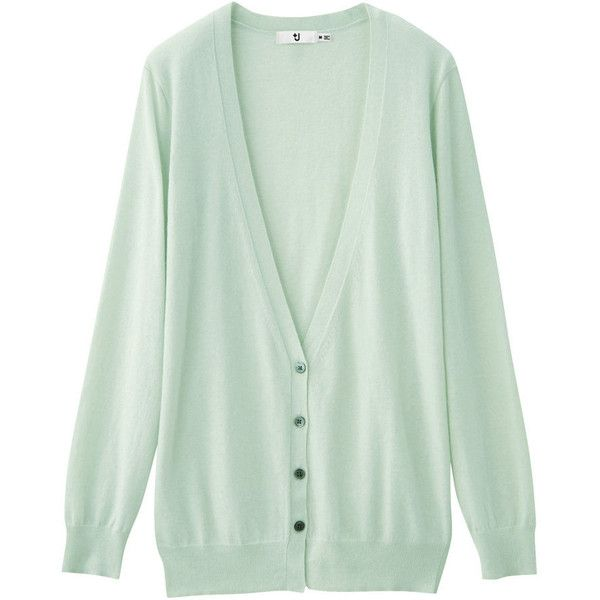 +J Cashmere Mix Deep Vneck Long Cardigan ($46) ❤ liked on Polyvore featuring tops, cardigans, outerwear, sweaters, +j, green top, deep v neck top, long cashmere cardigan, uniqlo cardigan and cashmere tops