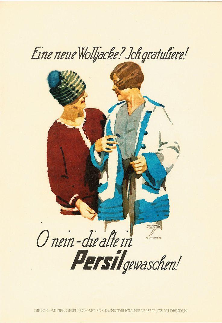 1926 Ludwig Hohlwein Persil original Kunstdruck Reklame Werbung • EUR 28,50…