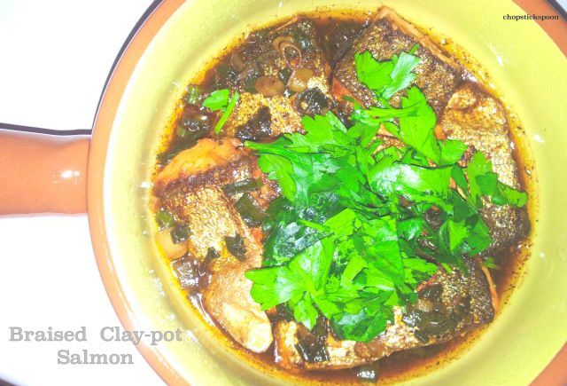 Braised Clay-pot Salmon