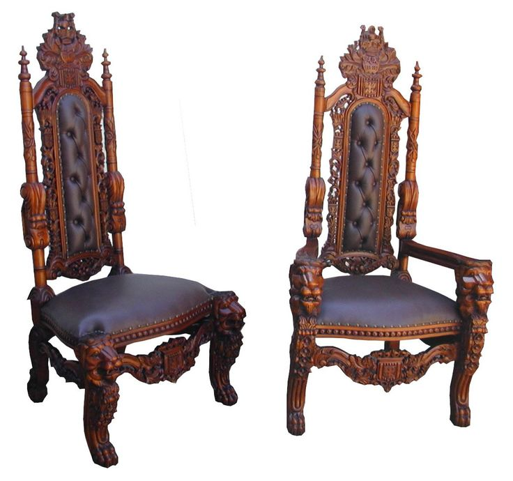 Indoor , Medieval Looking Architecture Style Of Gothic Furniture Ideas :  Carved Huge Chair In Gothic