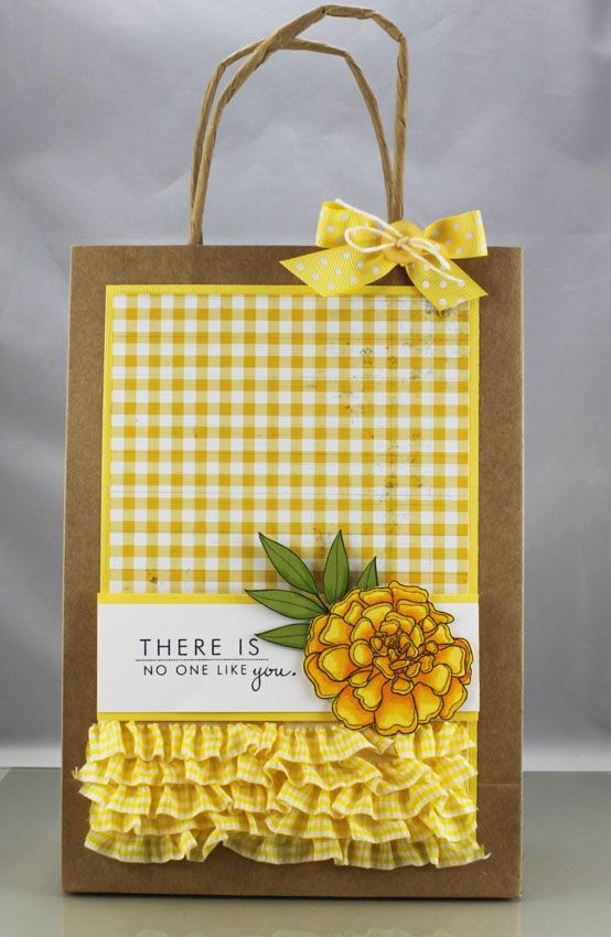 Cute Ruffles! There is No One Like You Gift Bag by Andrea Walford
