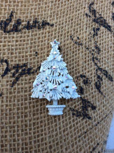 фантастический! подписан hollycraft белая эмаль со стразами рождественской елки брошь in Украшения и часы, Винтажные и антикварные украшения, Бижутерия, Дизайнерские вещи с подписью, Булавки, броши   eBay