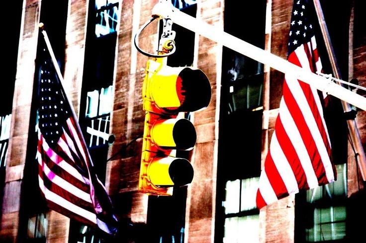 Traffic Lights - New York - by Toni deKort