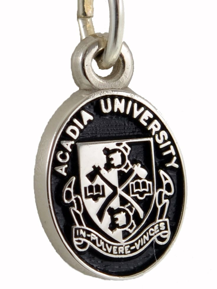 Acadia Crest pendant with Black background in Sterling Silver.