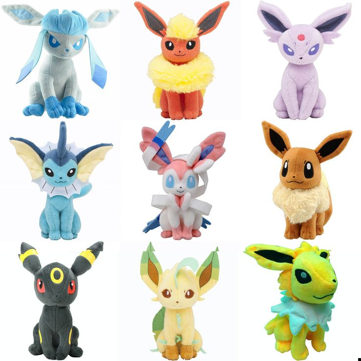 Pokemon Umbreon / Eevee / Espeon / Jolteon / Vaporeon / Flareon / Glaceon / Leafeon / Sylveon 18-23 cm Plush (cod: ev-a) World of Ash    #WorldOfAsh #PokemonGO #Pokemon