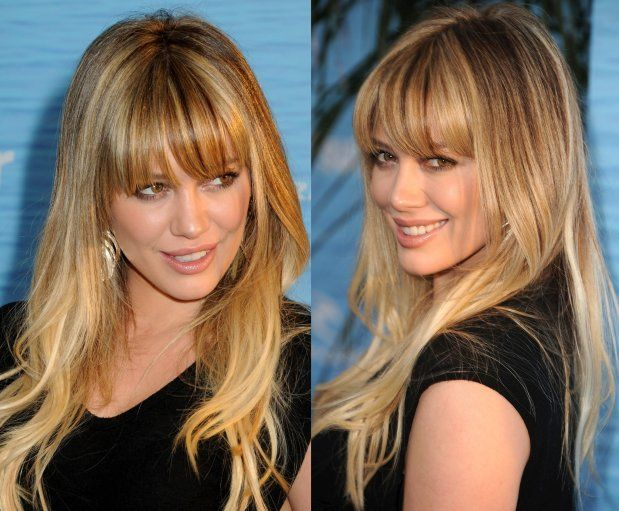 gray hair styles hilary duff bangs hair amp 2270
