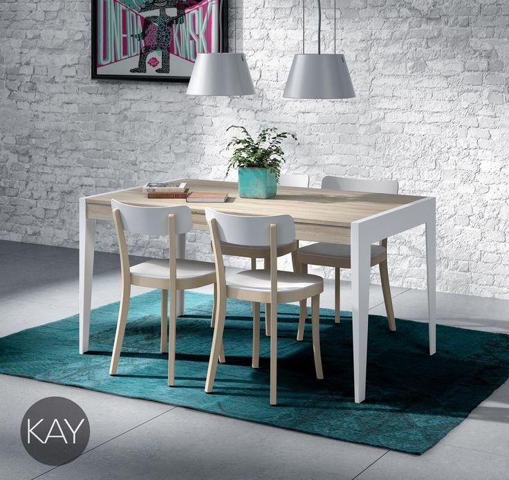 mesa de comedor extensible modelo a con las patas metlicas disponible en diferentes medidas para adecuarla
